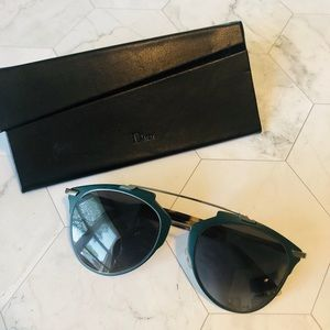 Dior Reflected Squared Aviator Sunglasses Green